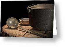 Dutch Oven And Ladle Greeting Card by Tom Mc Nemar