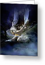 Dying Swan Greeting Card by Mary Hood