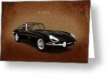 E Type Jaguar Greeting Card by Mark Rogan