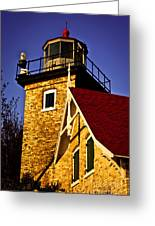 Eagle Bluff Lighthouse Of Door County Greeting Card by Shutter Happens Photography