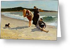 Eagle Head Manchester Massachusetts Greeting Card by Winslow Homer