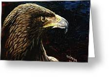 Eagle Profile Greeting Card by Emil F Major