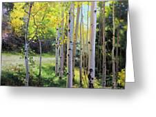 Early Autumn Aspen Greeting Card by Gary Kim