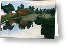 Early Morning Along The Wabash River Greeting Card by Jack Spath