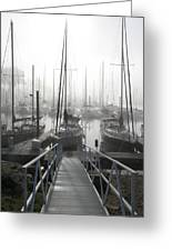Early Morning On The Docks Greeting Card by Laurie With