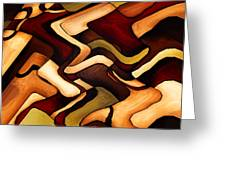 Earth Weave Greeting Card by Vicky Brago-Mitchell
