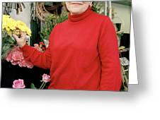 East London flower shop owner Greeting Card by Brian Benson