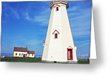 East Point Lightstation Greeting Card by Thomas R Fletcher