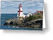 East Quoddy Lighthouse Greeting Card by John Greim