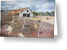 East Texas Barn Greeting Card by Bob Hallmark