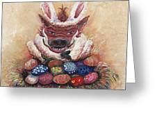 Easter Hog Greeting Card by Nadine Rippelmeyer