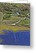 Eat Fire Spring Road Polpis Nantucket Island Greeting Card by Duncan Pearson