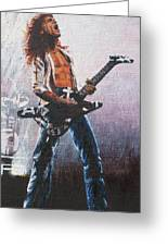 Eddie Van Halen Greeting Card by Rick Yanke