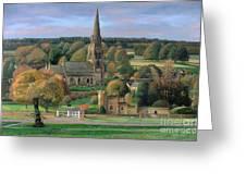Edensor - Chatsworth Park - Derbyshire Greeting Card by Trevor Neal