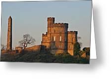 Edinburgh Scotland - Governors House And Obelisk Calton Hill Greeting Card by Christine Till