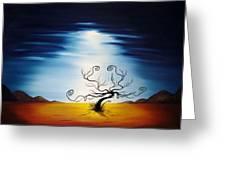 Eery Dreams Greeting Card by Jacob Pazera