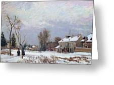 Effects Of Snow Greeting Card by Camille Pissarro