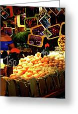 Egg Stand Barcelona Market Greeting Card by Julie Palencia