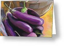 Eggplant Greeting Card by Bob Salo
