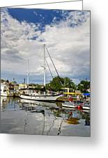 Ego Alley Annapolis Maryland Greeting Card by Brendan Reals