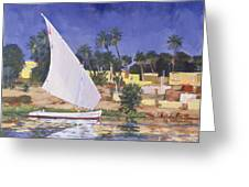 Egypt Blue Greeting Card by Clive Metcalfe