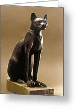 Egyptian Bronze Statuette Greeting Card by Granger