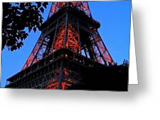 Eiffel Tower Greeting Card by Juergen Weiss