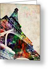 Eiffel Tower Greeting Card by Michael Tompsett