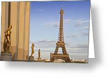 Eiffel Tower Paris Trocadero  Greeting Card by Melanie Viola