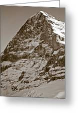 Eiger North Face Greeting Card by Frank Tschakert