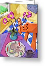 Eight Leg Dinner Greeting Card by David Kyte