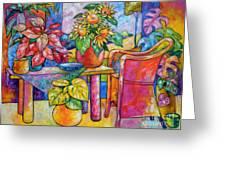Eighteen Past Twelve Greeting Card by Ana Goldberger