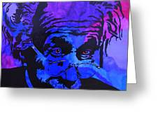 Einstein-all Things Relative Greeting Card by Bill Manson