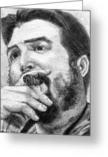 El Che Greeting Card by Roberto Valdes Sanchez