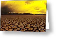 El Mirage Desert Greeting Card by Larry Dale Gordon - Printscapes