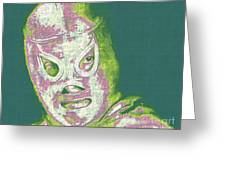 El Santo The Masked Wrestler 20130218v2m80 Greeting Card by Wingsdomain Art and Photography