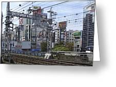 Electric Train Society -- Kansai Region Japan Greeting Card by Daniel Hagerman