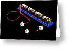 Electrical Circuit Greeting Card by