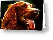 Electrifying Dog Portrait Greeting Card by Pamela Johnson