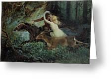 Elegy of Bohemia Greeting Card by Adolf Liebscher