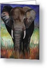 Elephant Greeting Card by Anthony Burks Sr