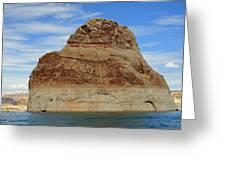 Elephant Rock Lake Powell Greeting Card by Chuck Wedemeier