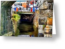 Ellicott City Bridge Arch Greeting Card by Stephen Younts