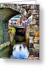 Ellicott City Bridge Arch Greeting Card by Stephen Younts