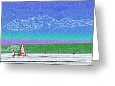 Elliott Bay Sail Greeting Card by Tim Allen