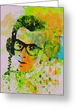Elvis Costello Greeting Card by Naxart Studio