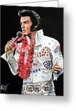 Elvis Greeting Card by Tom Carlton