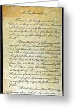 Emancipation Proc., P. 1 Greeting Card by Granger