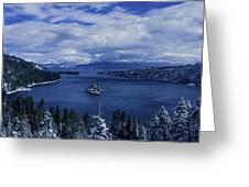 Emerald Bay First Snow Greeting Card by Brad Scott