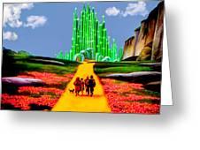 Emerald City Greeting Card by Tom Zukauskas